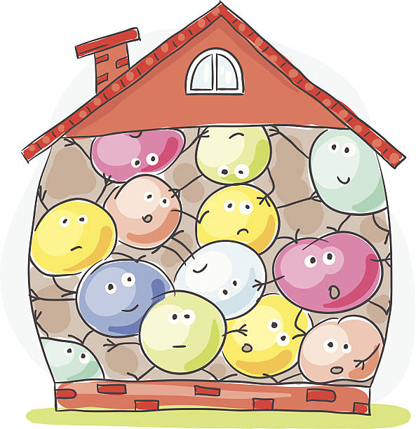 660 Cramped House Illustrations, Royalty-Free Vector Graphics & Clip Art -  iStock