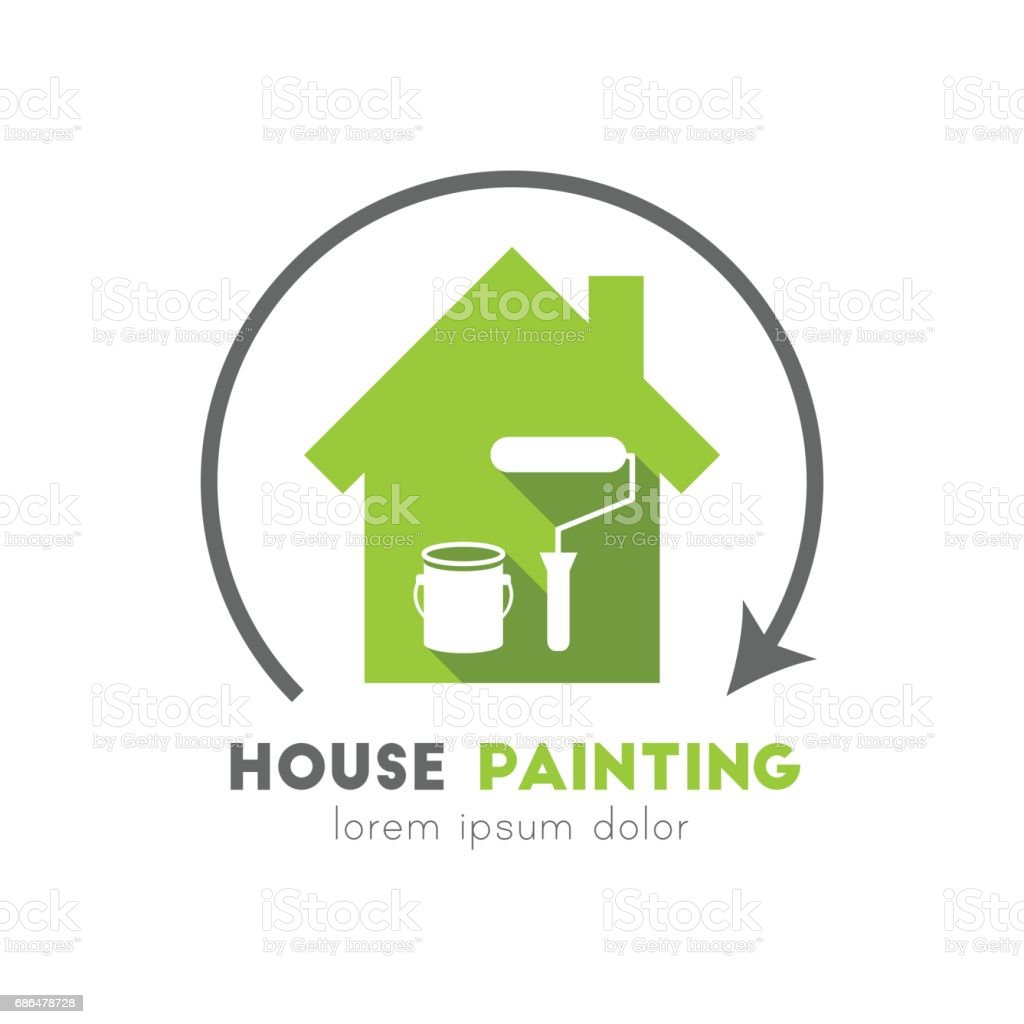 House painting concept vector art illustration