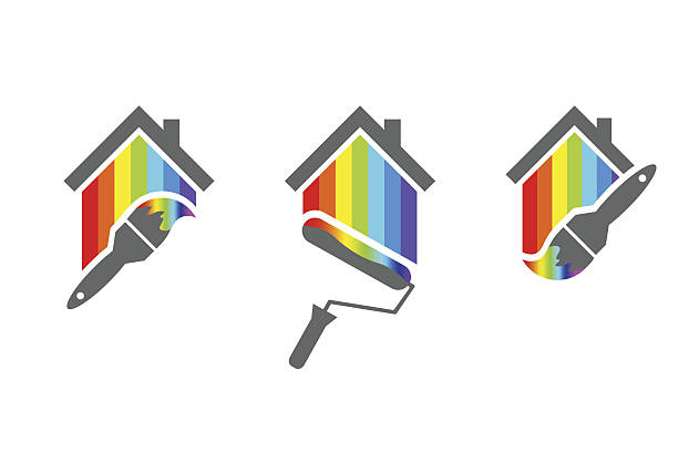 House painting logo designs - Illustration vectorielle