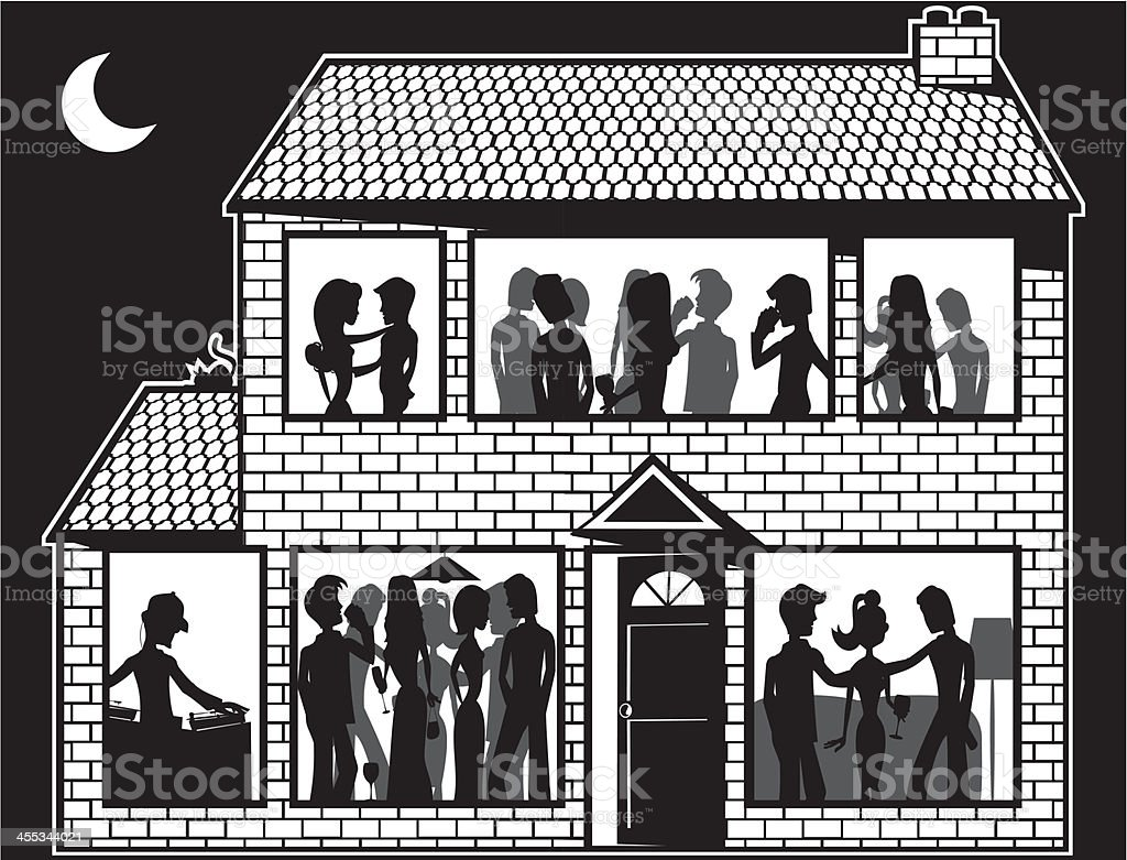 House Party Royalty Free House Party Stock Vector Art U0026amp; ...