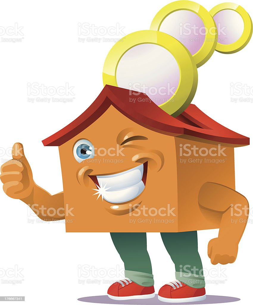 house piggy bank royalty-free house piggy bank stock vector art & more images of anthropomorphic smiley face