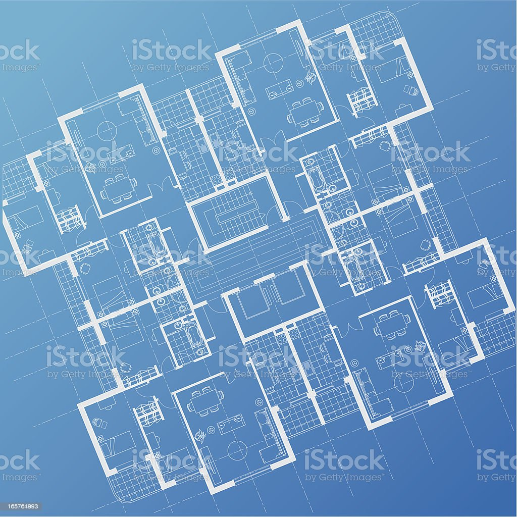house plan architectural drawing royalty-free stock vector art