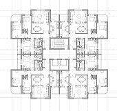 house plan architectural drawing, pdf,png inc. if you like to color the furniture: copy the furniture layer, select all, release compound path and only a few will not be colored.
