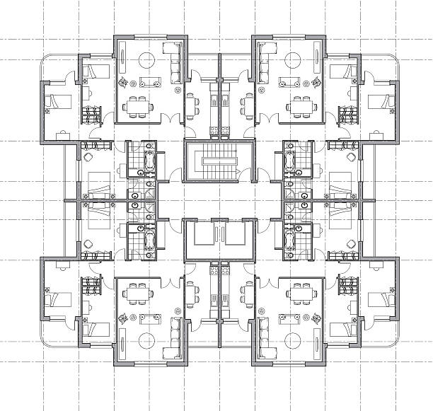 house plan architectural drawing house plan architectural drawing, pdf,png inc. if you like to color the furniture: copy the furniture layer, select all, release compound path and only a few will not be colored.  bathroom designs stock illustrations