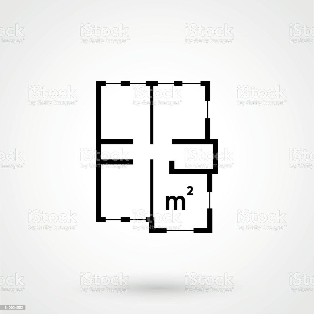家プラン シンプルなフラット アイコン白の背景にベクトル イラスト お
