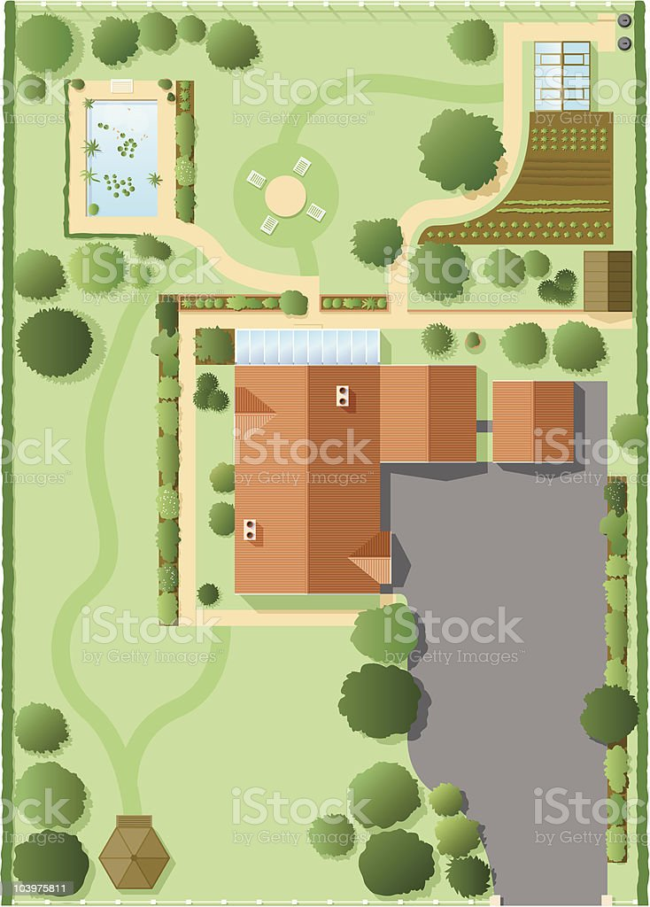 House plan vector art illustration