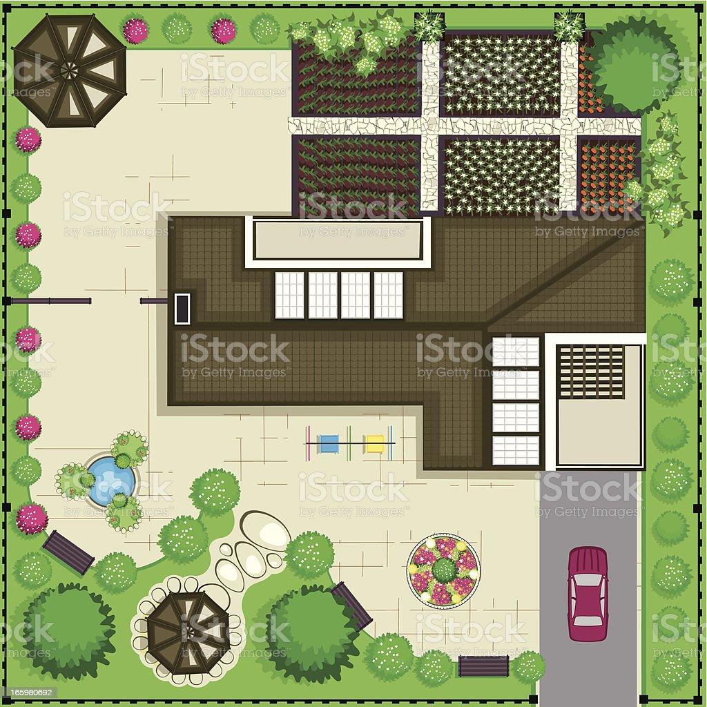 House plan royalty-free stock vector art