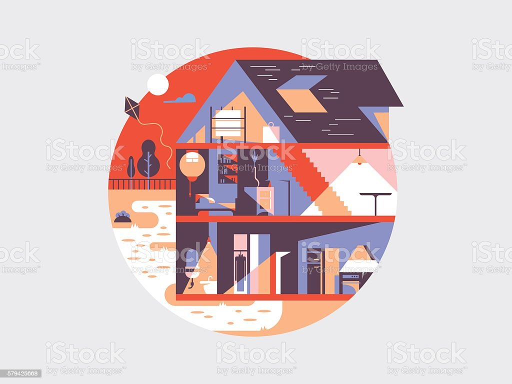 House planning illustration vector art illustration