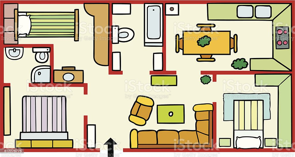 House plans and furniture stock vector art more images of aerial house plans and furniture royalty free house plans and furniture stock vector art amp malvernweather Choice Image