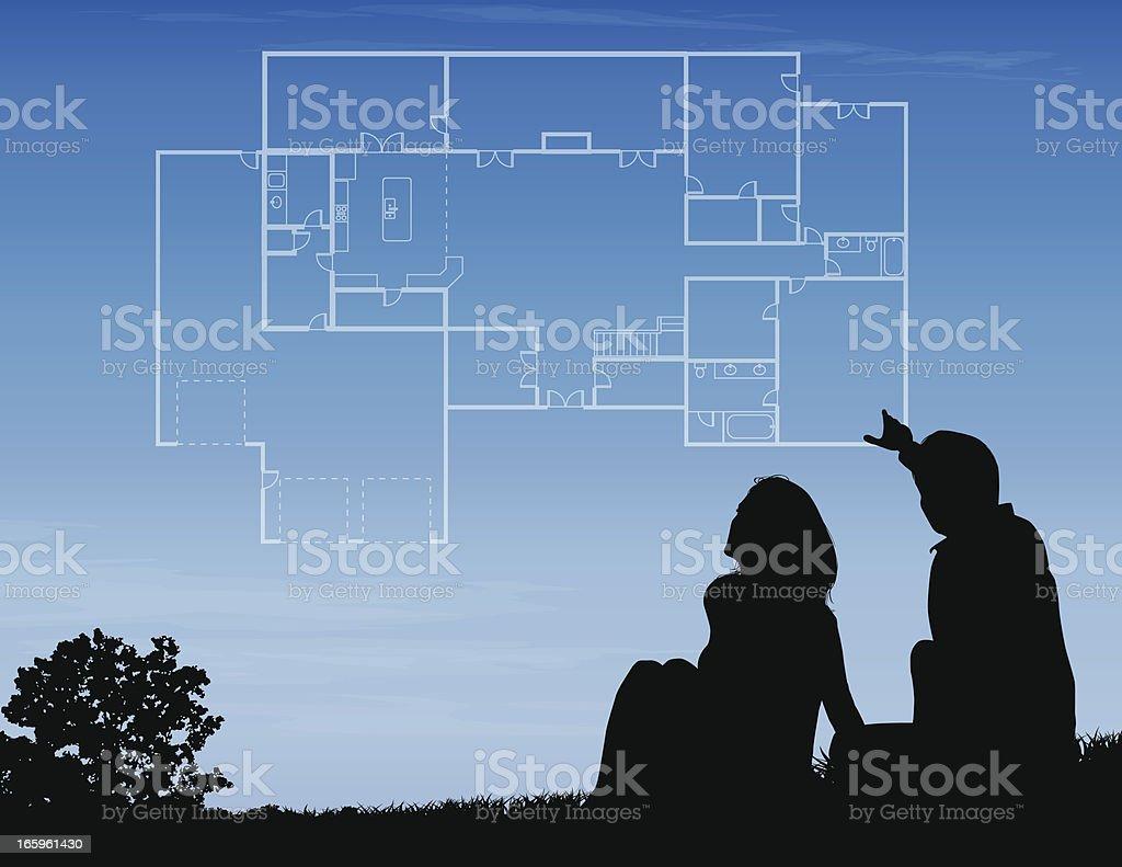 House Plans vector art illustration