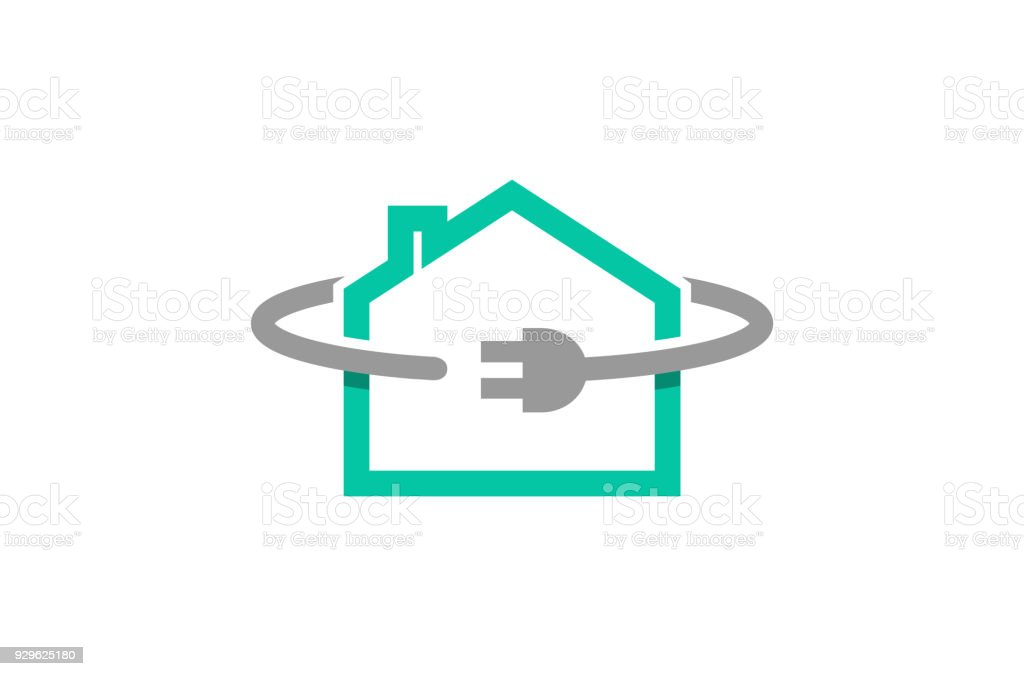 House Plug Power Cable Symbol Stock Vector Art & More Images of ...