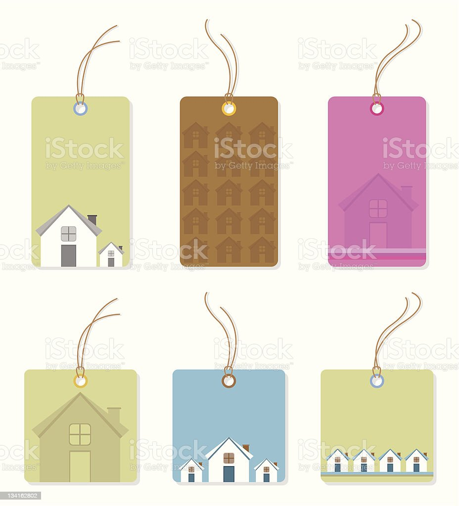 House Price Tags royalty-free house price tags stock vector art & more images of blank