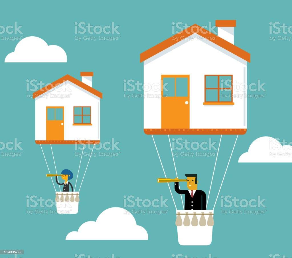 Residência preço - ilustração de arte em vetor