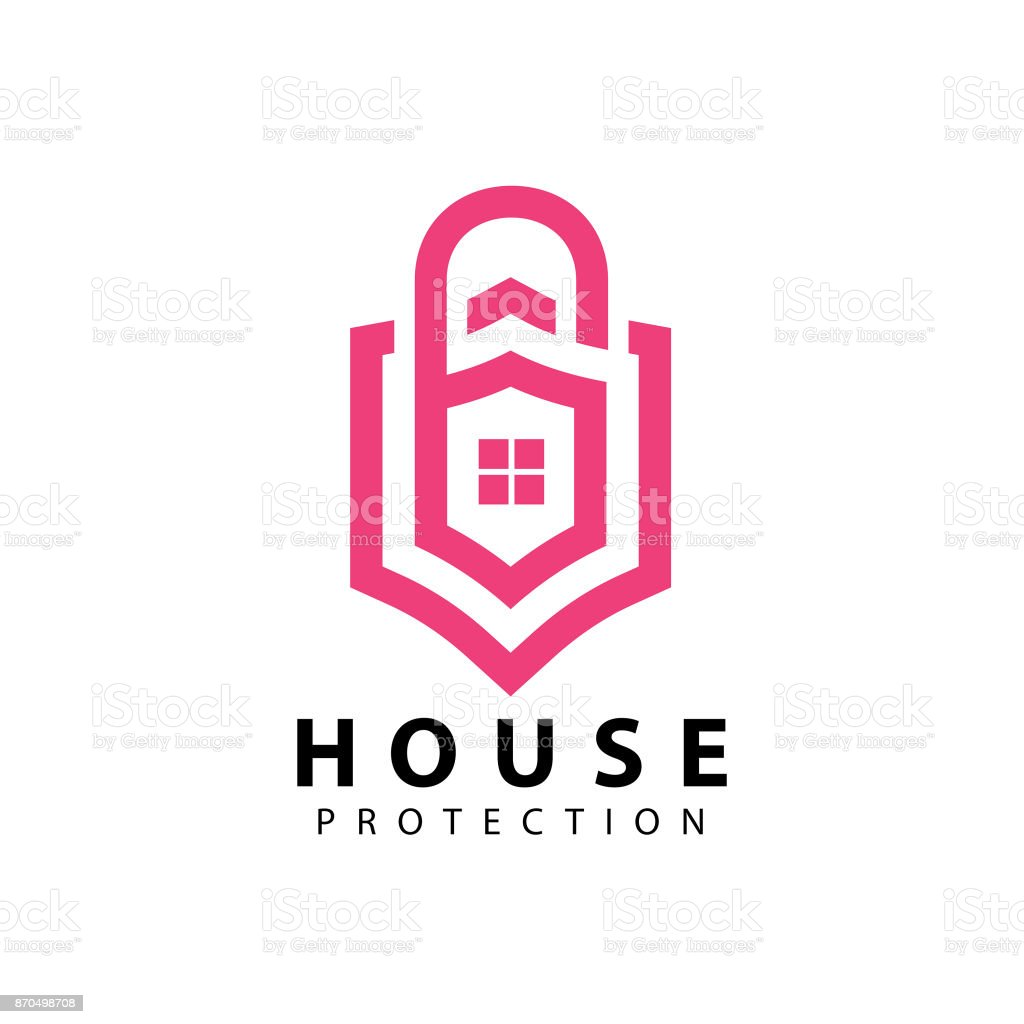 House Protection icon - Vector illustration vector art illustration