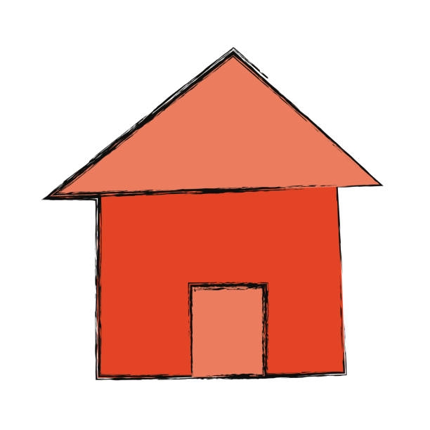 haus immobilien symbol cartoon - blackpool stock-grafiken, -clipart, -cartoons und -symbole