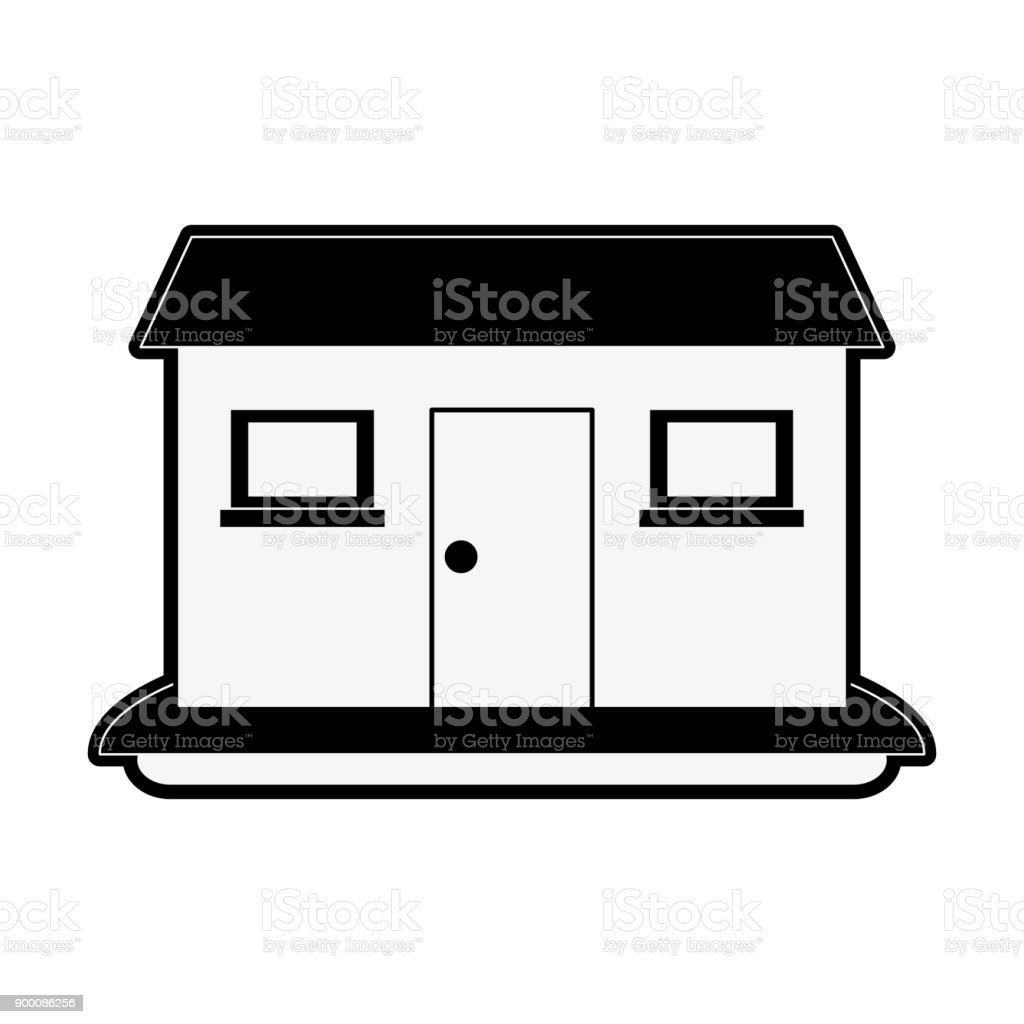 House real estate vector art illustration