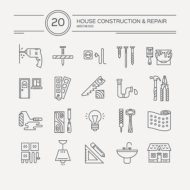 ホテル改装を完了アイコン - 大工点のイラスト素材/クリップアート素材/マンガ素材/アイコン素材