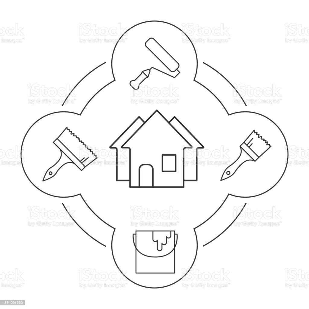 House remodel tools icons royalty-free house remodel tools icons stock vector art & more images of architecture