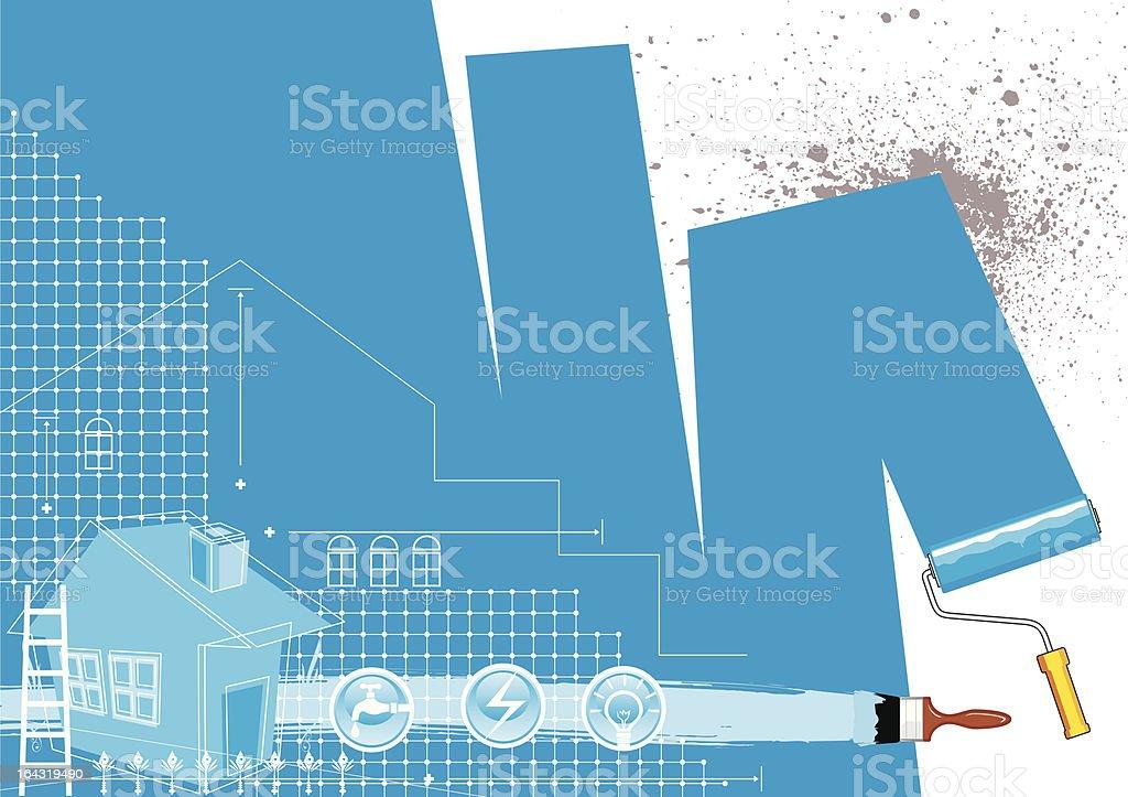 house renovation design vector art illustration