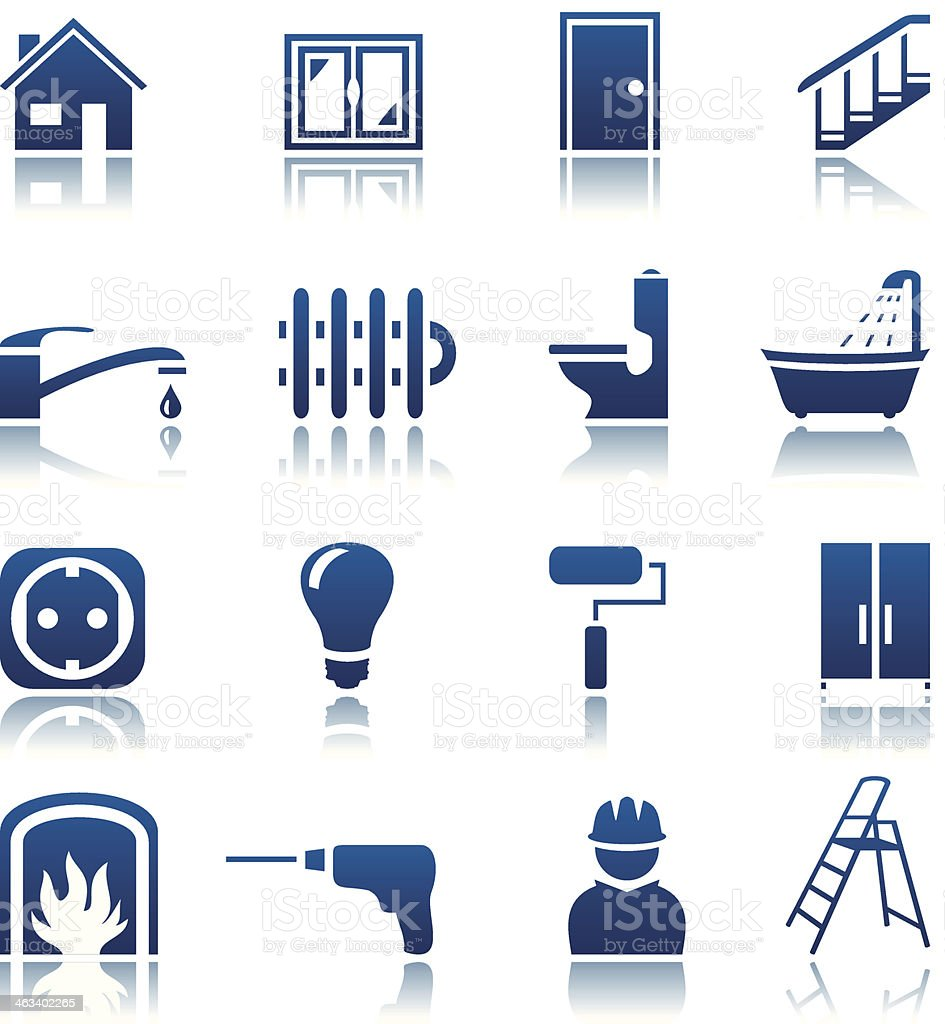 House repair icon set vector art illustration