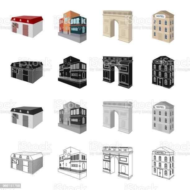 Huis Residentiële Bouw En Andere Web Pictogram In Cartoon Stijl Administratief Musea Theater Pictogrammen In Setcollectie Stockvectorkunst en meer beelden van Architectuur