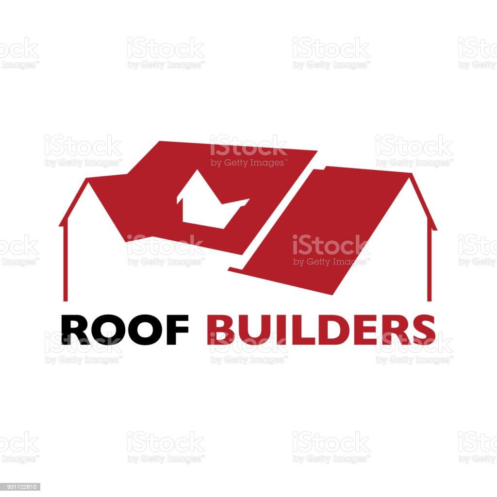 Evin çatı üreticileri işareti - Royalty-free Apartman Vector Art
