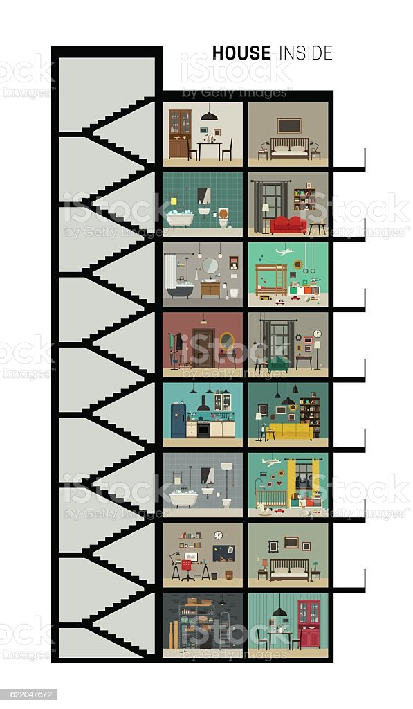 House section vector art illustration