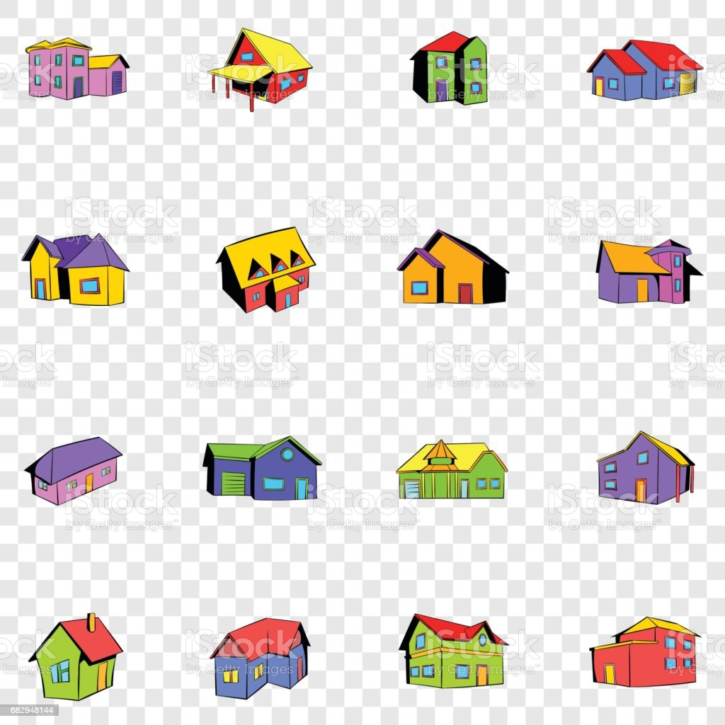 House set icons royalty-free house set icons stock vector art & more images of architectural feature