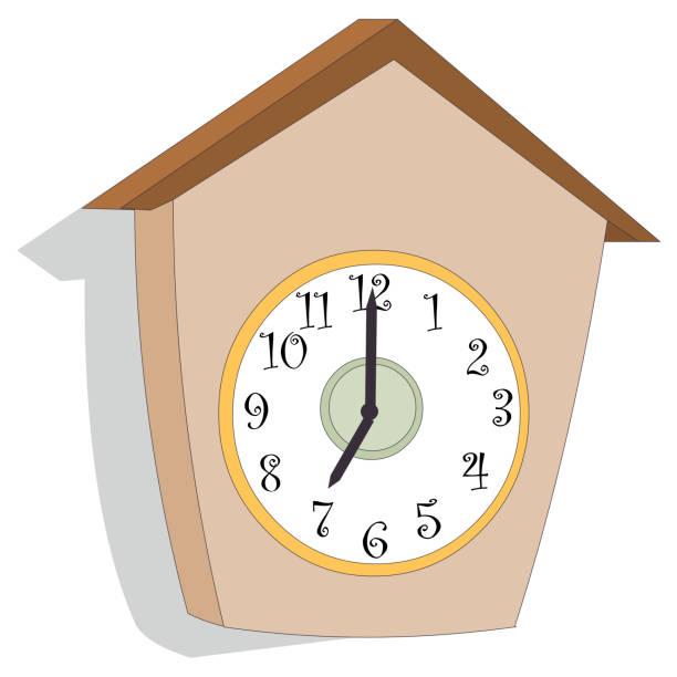 ilustraciones, imágenes clip art, dibujos animados e iconos de stock de reloj en forma de casa - wall clock