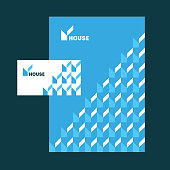 house sign and pattern, card and folder