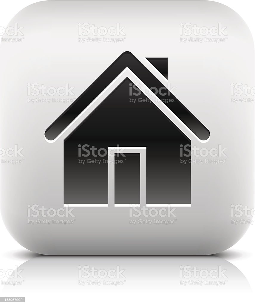House sign rounded square icon home pictogram web internet button royalty-free stock vector art