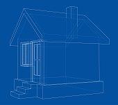 House sketch. Vector