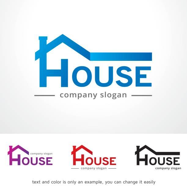 illustrations, cliparts, dessins animés et icônes de maison symbole template design vecteur, emblème, design concept, création de symbole, icône - logos immobilier