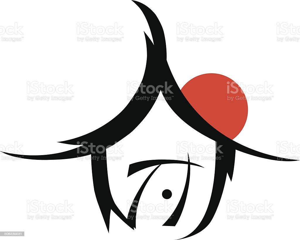 house symbol vector art illustration