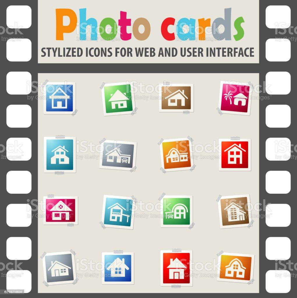 house type icon set house type icon set – cliparts vectoriels et plus d'images de appartement libre de droits