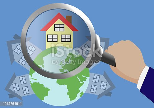 House under a magnifying lens