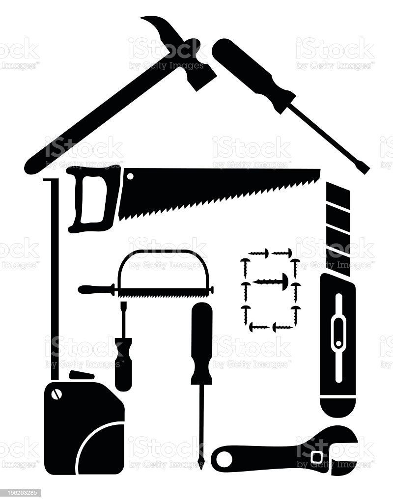DIY house royalty-free stock vector art