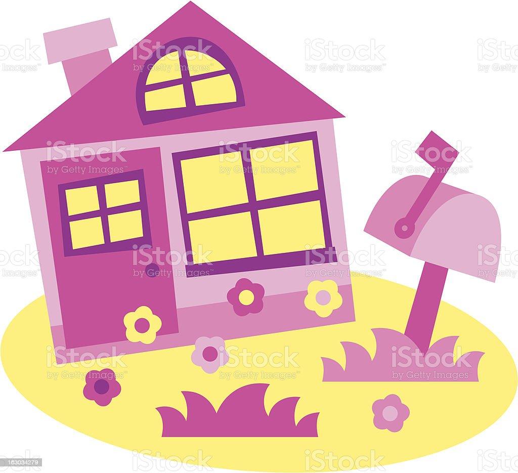 house - vector illustration royalty-free stock vector art