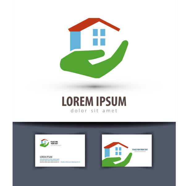 illustrations, cliparts, dessins animés et icônes de maison vector logo design template. icône de bâtiment ou de construction - gériatrie