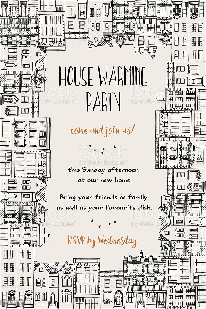 House warming party invitation stock vector art more images of house warming party invitation royalty free house warming party invitation stock vector art amp stopboris Gallery