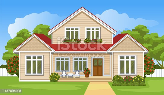istock House with a lawn 1157095925