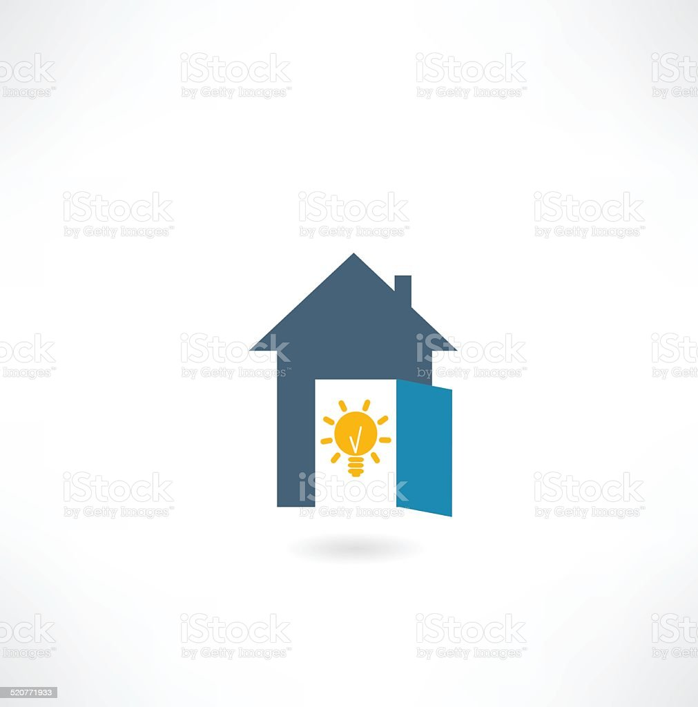 house with a light bulb icon