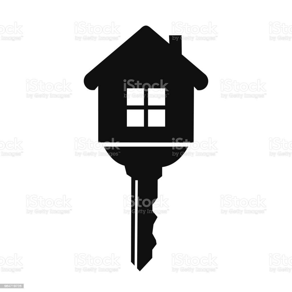 House with key icon - vector royalty-free house with key icon vector stock vector art & more images of anticipation