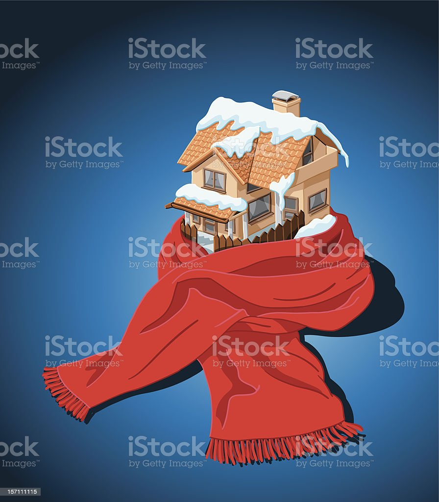 House with Scarf royalty-free stock vector art