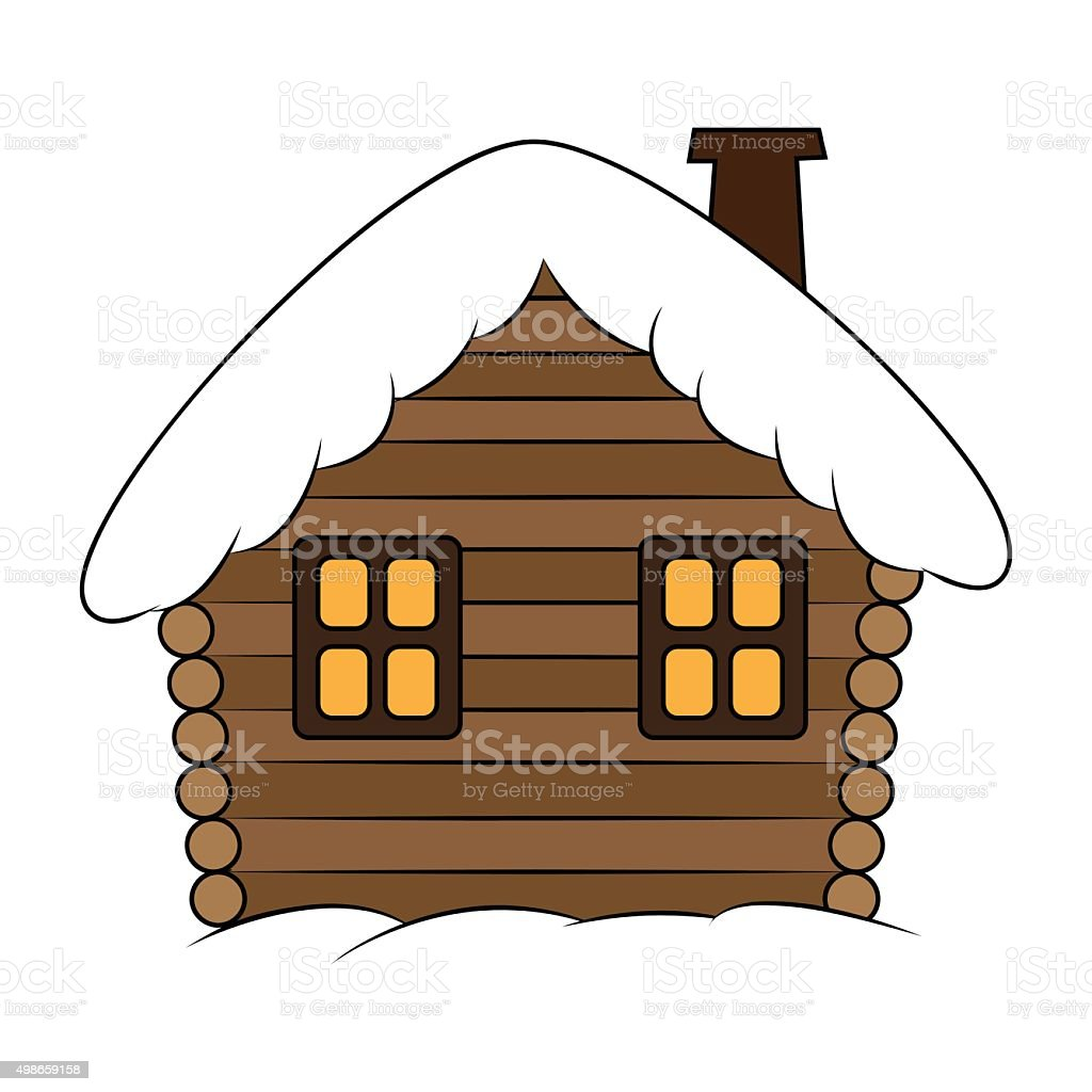 royalty free cabin clip art snow cottage clip art vector images rh istockphoto com log cabin day clipart log cabin graphics clipart