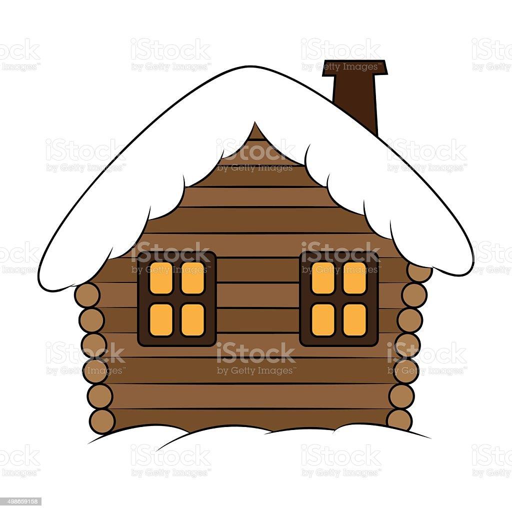 royalty free cabin clip art snow cottage clip art vector images rh istockphoto com log cabin clipart black and white log cabin clip art images