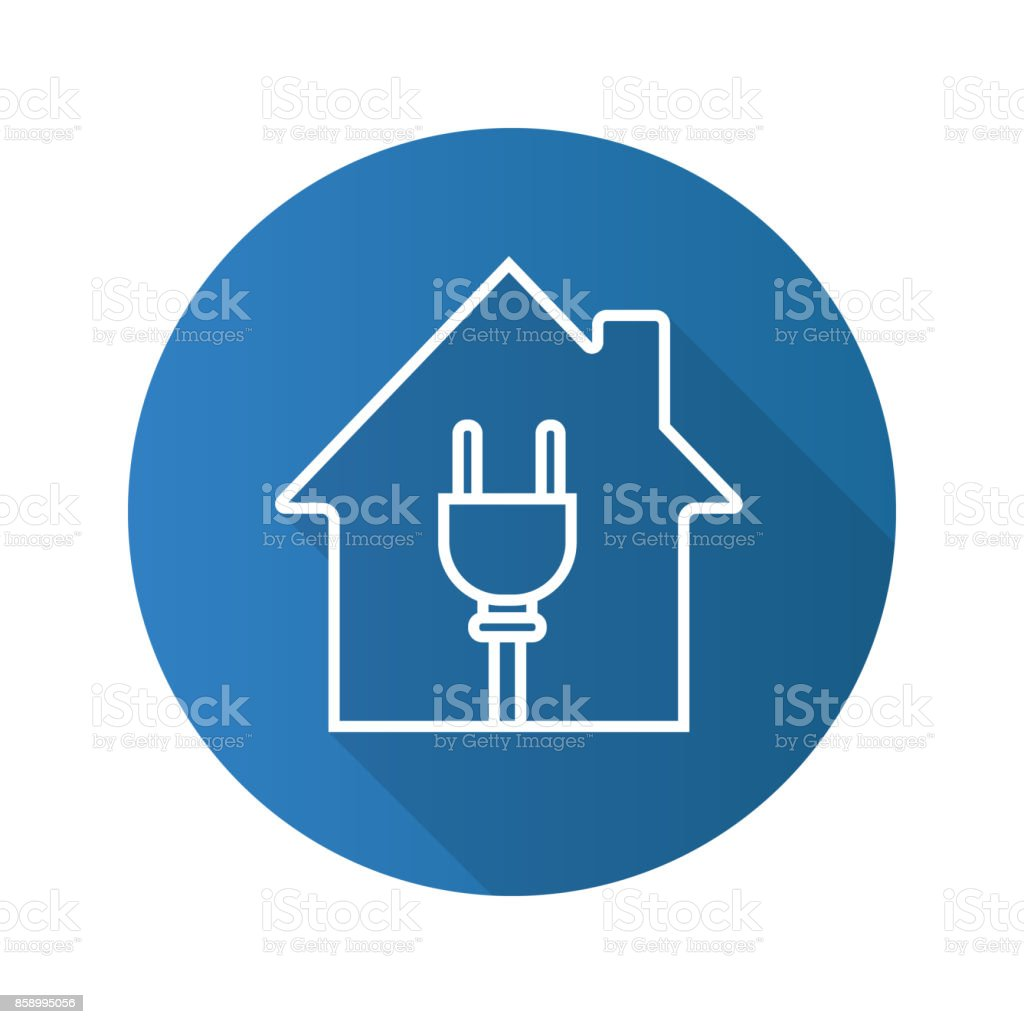 House With Wire Plug Icon Stock Vector Art & More Images of ...