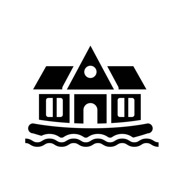 houseboat icon. Trendy houseboat logo concept on white background from Transportation collection vector art illustration