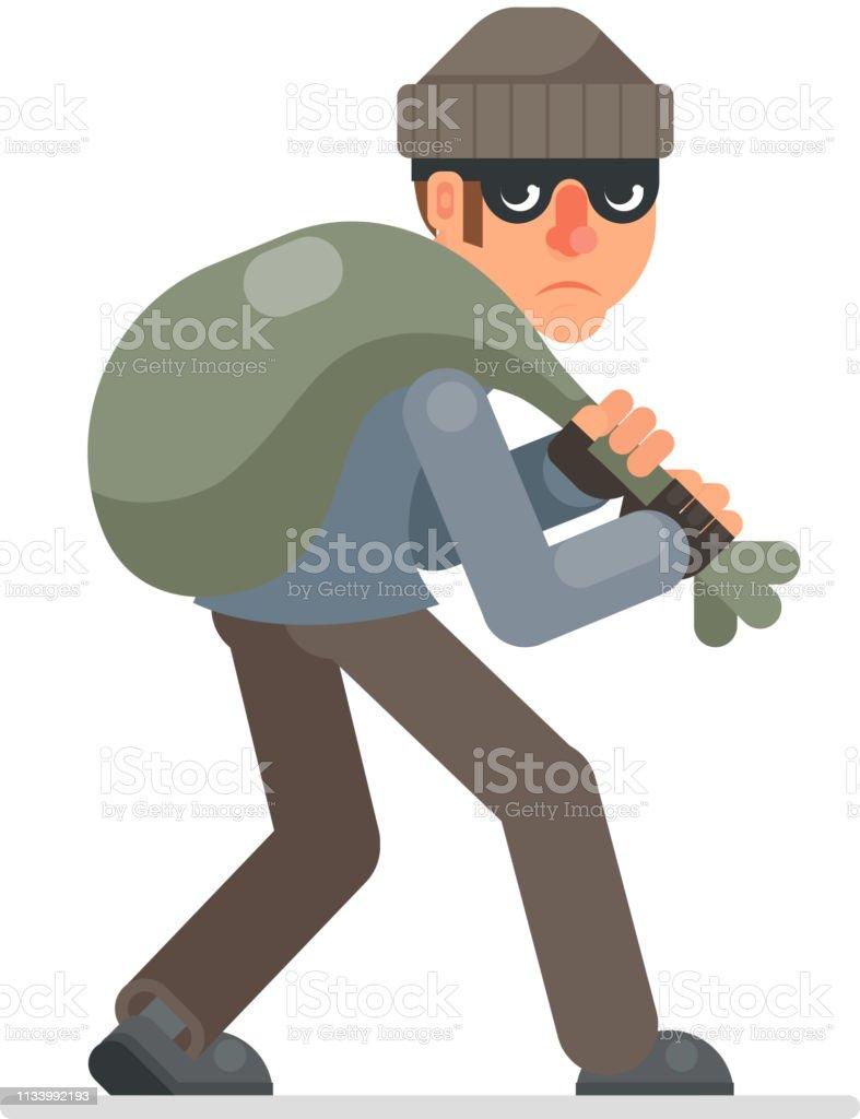 怪盗の袋との戦利品スニークアウェイ悪貪欲泥棒漫画ローグブルガー