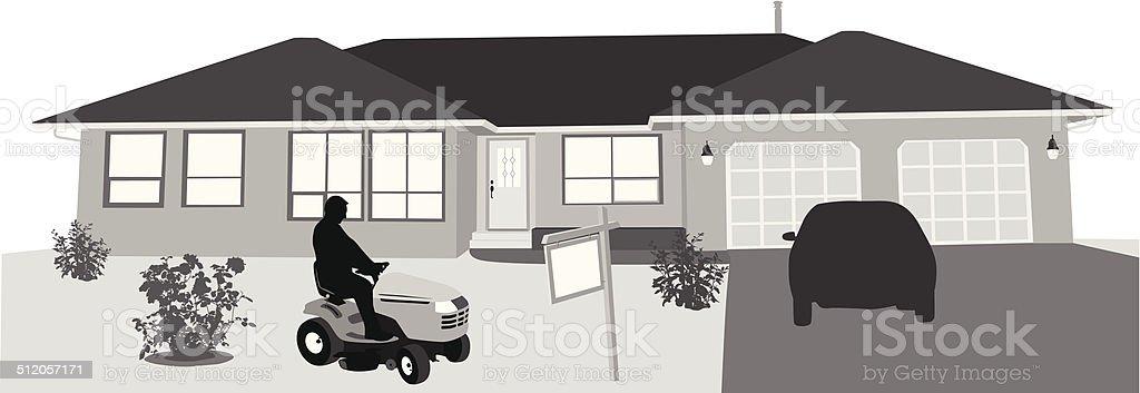 HouseGrooming vector art illustration